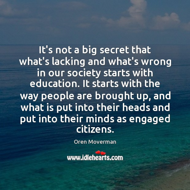 It's not a big secret that what's lacking and what's wrong in Image