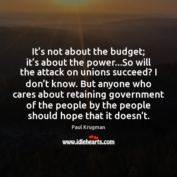Image, It's not about the budget; it's about the power…So