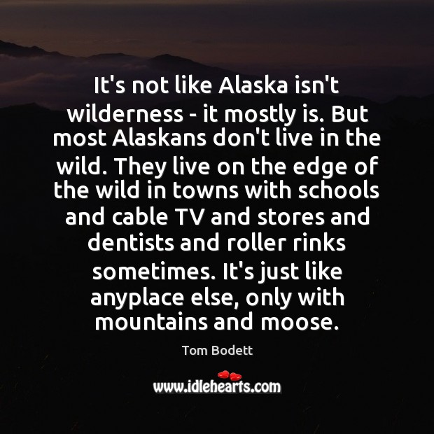 Image, It's not like Alaska isn't wilderness – it mostly is. But most