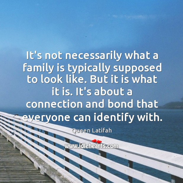 It's not necessarily what a family is typically supposed to look like. Image
