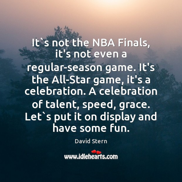 Image, It`s not the NBA Finals, it's not even a regular-season game.