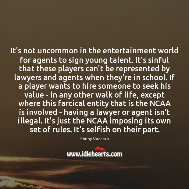 It's not uncommon in the entertainment world for agents to sign young Image