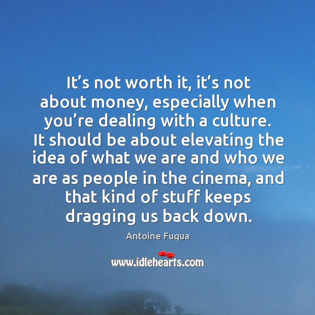 It's not worth it, it's not about money, especially when you're dealing with a culture. Image