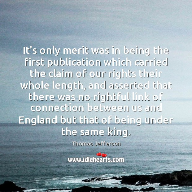 It's only merit was in being the first publication which carried the Image