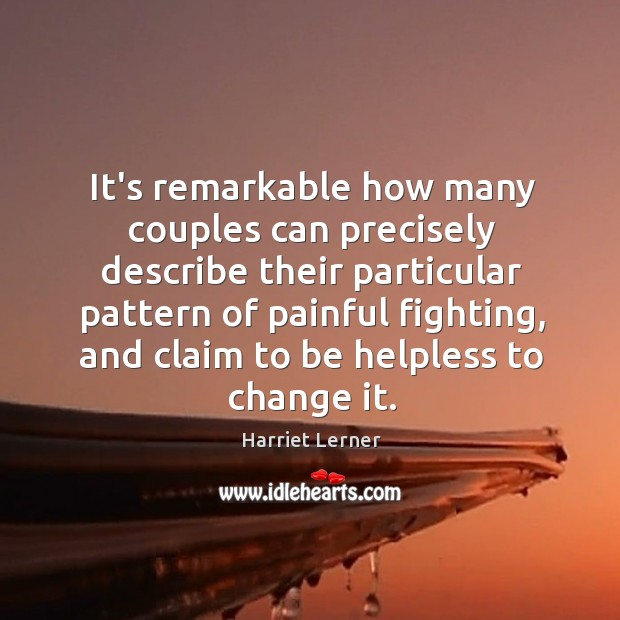 Image, It's remarkable how many couples can precisely describe their particular pattern of