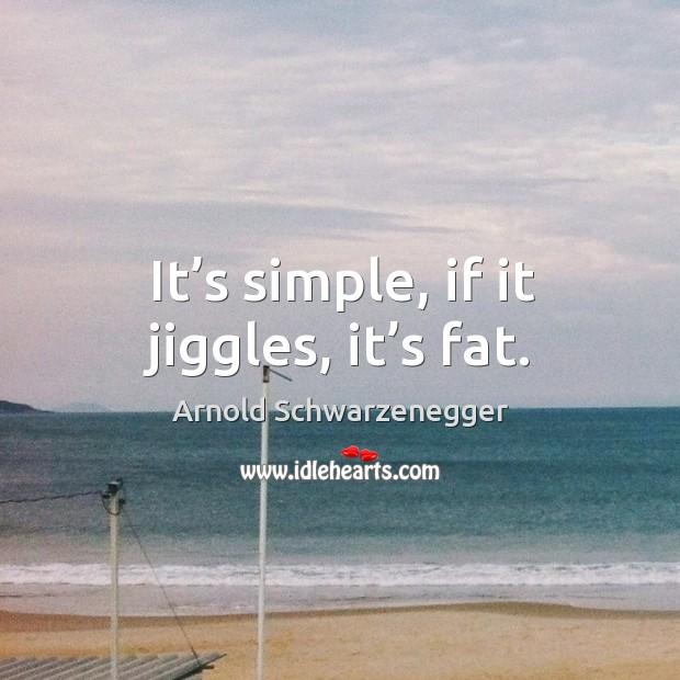 It's simple, if it jiggles, it's fat. Image