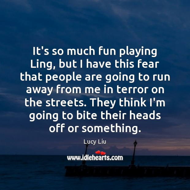 It's so much fun playing Ling, but I have this fear that Image