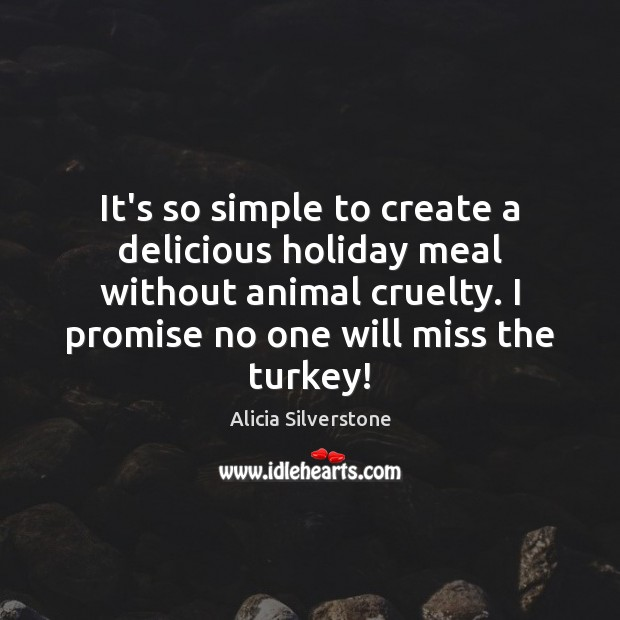 Image, It's so simple to create a delicious holiday meal without animal cruelty.