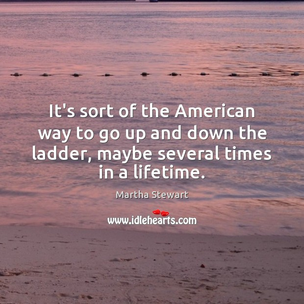It's sort of the American way to go up and down the Martha Stewart Picture Quote