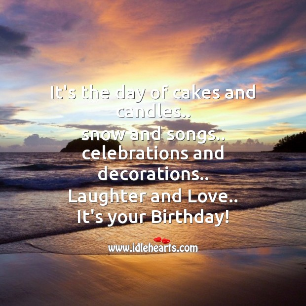 It's the day of cakes and candles Image