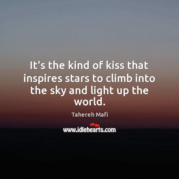 Image, It's the kind of kiss that inspires stars to climb into the sky and light up the world.