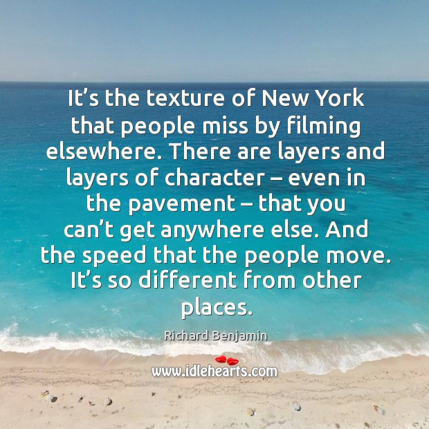 It's the texture of new york that people miss by filming elsewhere. Image