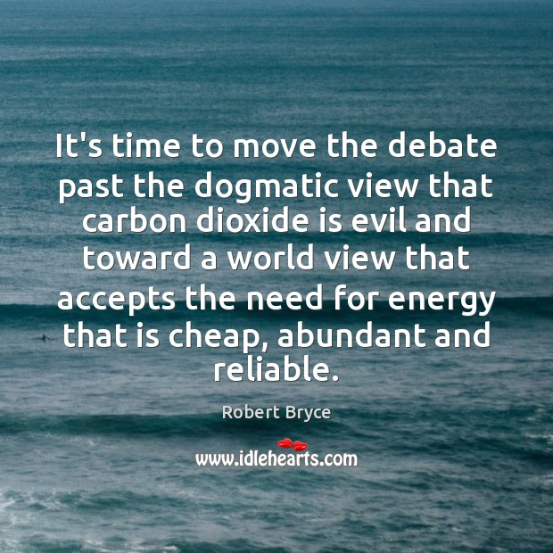 It's time to move the debate past the dogmatic view that carbon Image