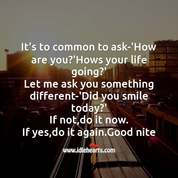 It's to common to ask-'how are you? Good Night Messages Image