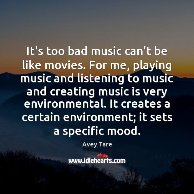Image, It's too bad music can't be like movies. For me, playing music