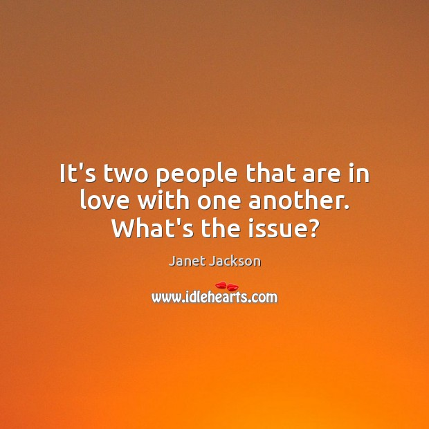 Image, It's two people that are in love with one another. What's the issue?