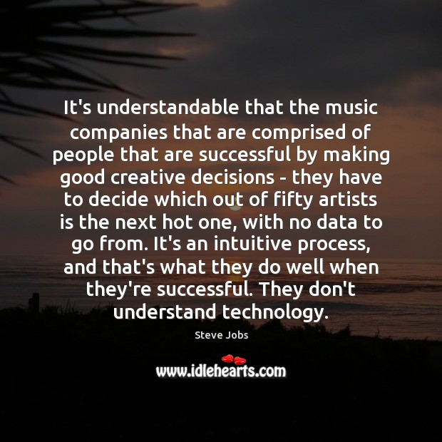 Image, It's understandable that the music companies that are comprised of people that