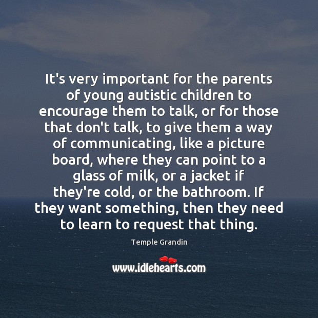 Image, It's very important for the parents of young autistic children to encourage