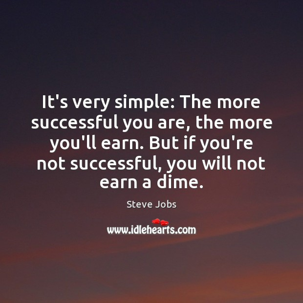 Image, It's very simple: The more successful you are, the more you'll earn.