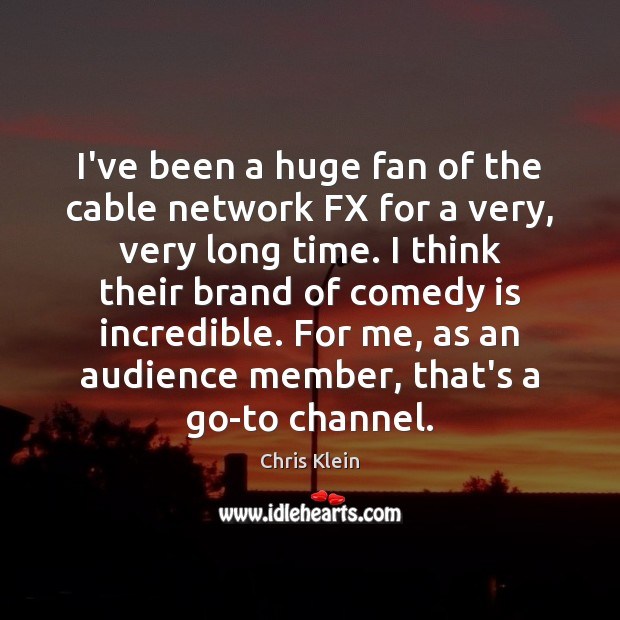 Image, I've been a huge fan of the cable network FX for a