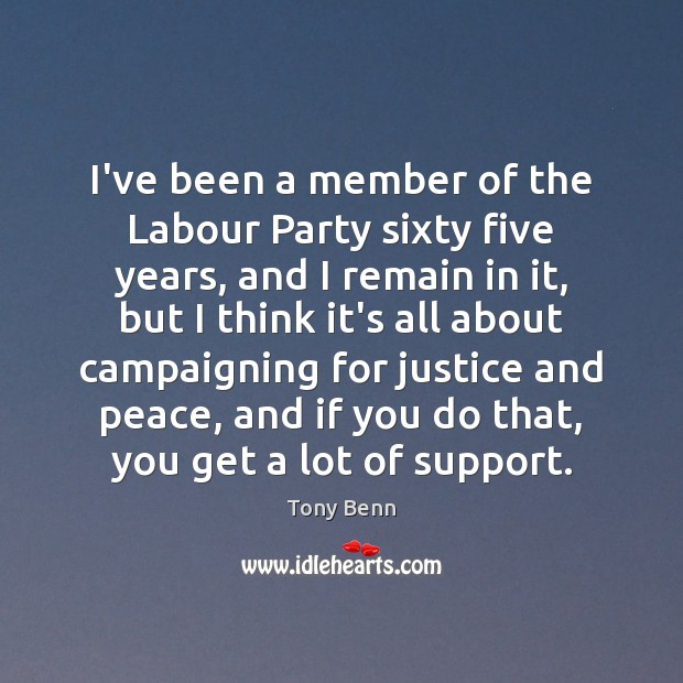Image, I've been a member of the Labour Party sixty five years, and