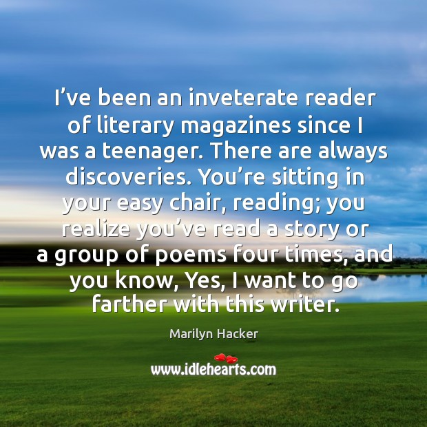 I've been an inveterate reader of literary magazines since I was a teenager. Image