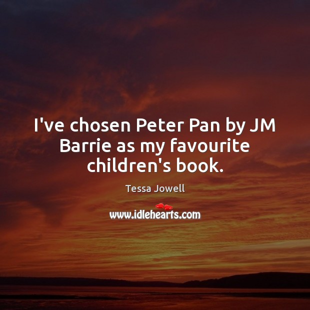 I've chosen Peter Pan by JM Barrie as my favourite children's book. Image