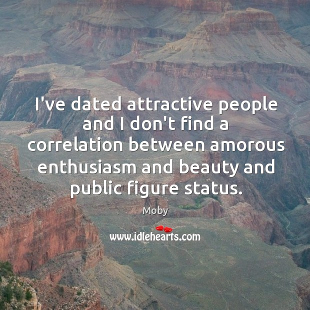 Image, I've dated attractive people and I don't find a correlation between amorous