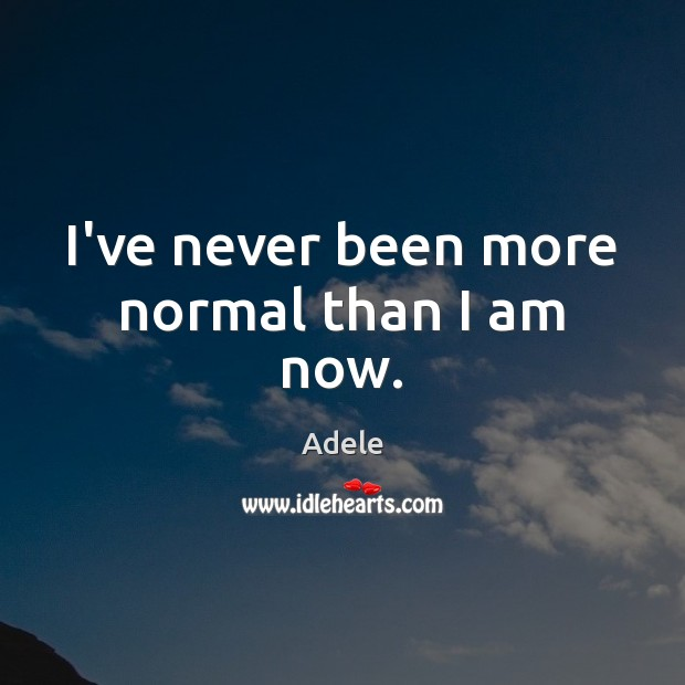 Picture Quote by Adele