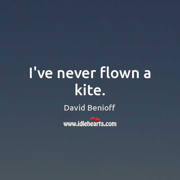 I've never flown a kite. Image