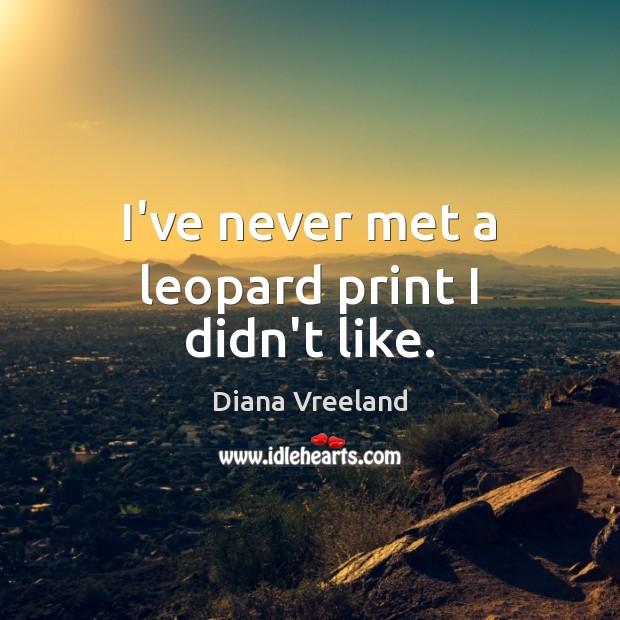 I've never met a leopard print I didn't like. Image