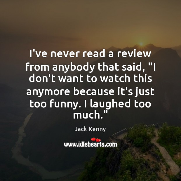 """I've never read a review from anybody that said, """"I don't want Image"""