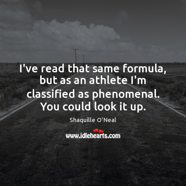 Image, I've read that same formula, but as an athlete I'm classified as