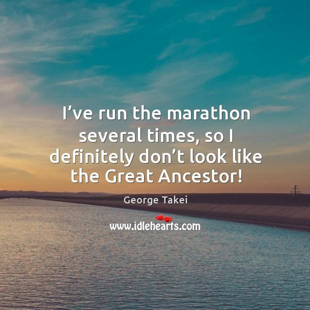 I've run the marathon several times, so I definitely don't look like the great ancestor! Image