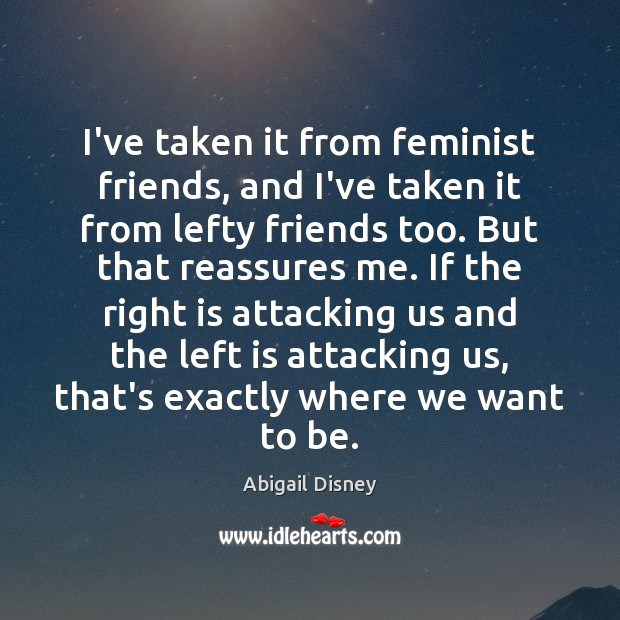 Image, I've taken it from feminist friends, and I've taken it from lefty