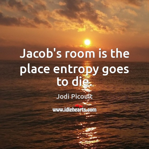 Jacob's room is the place entropy goes to die. Image