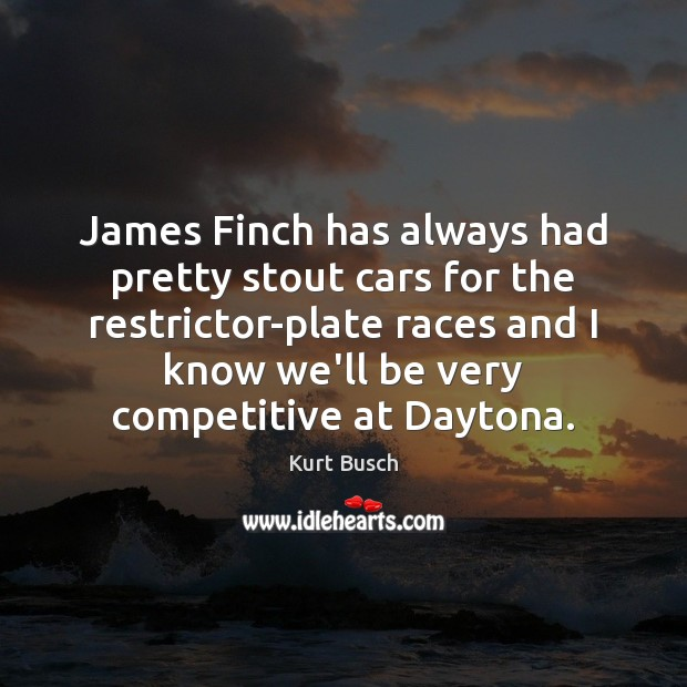 James Finch has always had pretty stout cars for the restrictor-plate races Image