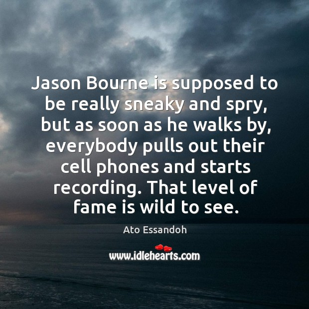 Image, Jason Bourne is supposed to be really sneaky and spry, but as