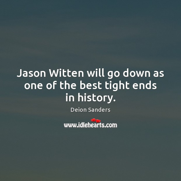 Jason Witten will go down as one of the best tight ends in history. Image