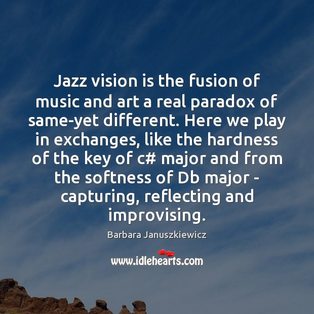 Jazz vision is the fusion of music and art a real paradox Image