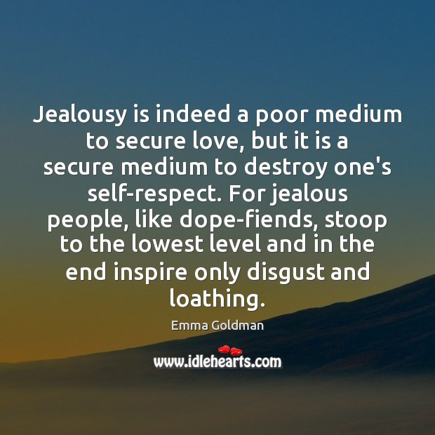 Jealousy is indeed a poor medium to secure love, but it is Jealousy Quotes Image