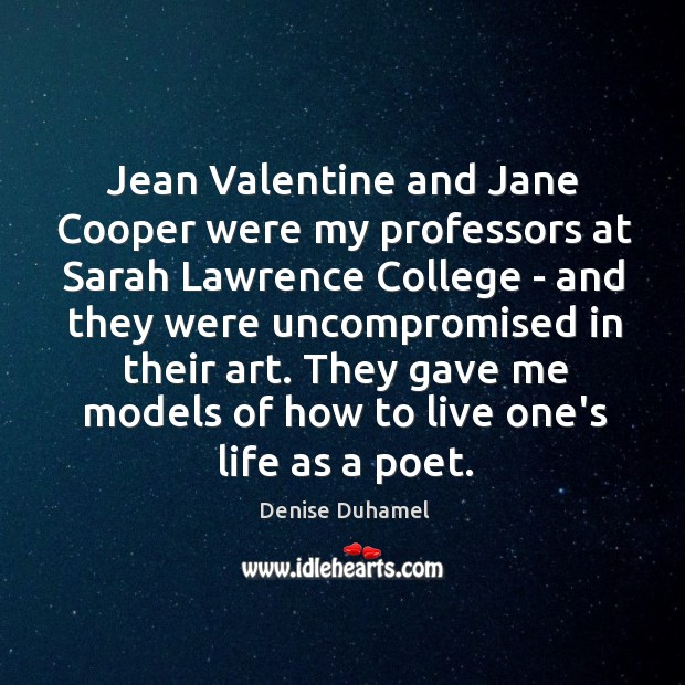 Jean Valentine and Jane Cooper were my professors at Sarah Lawrence College Image