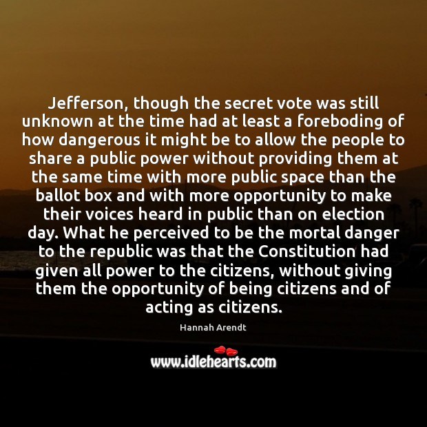 Jefferson, though the secret vote was still unknown at the time had Image