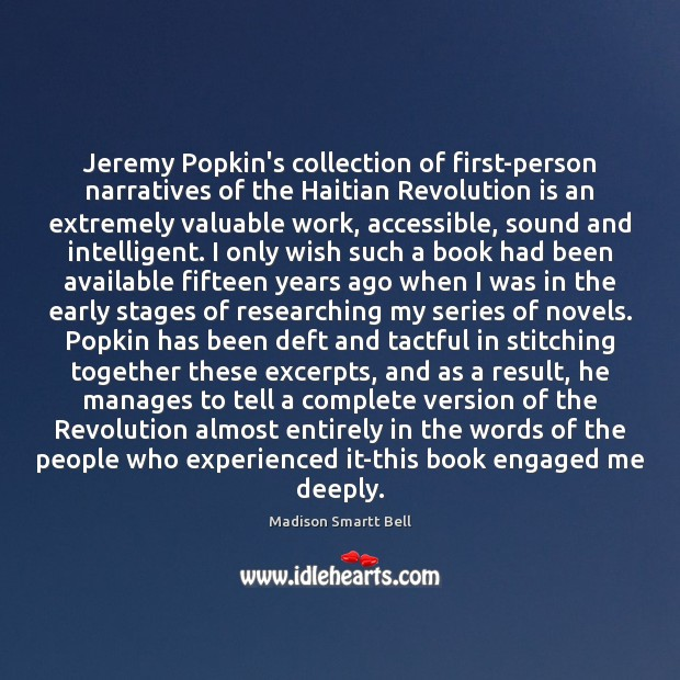 Image, Jeremy Popkin's collection of first-person narratives of the Haitian Revolution is an