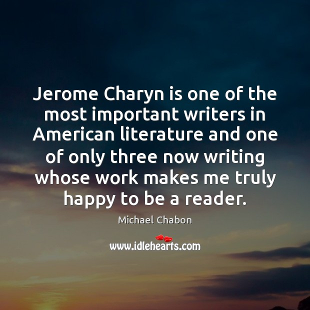 Jerome Charyn is one of the most important writers in American literature Image