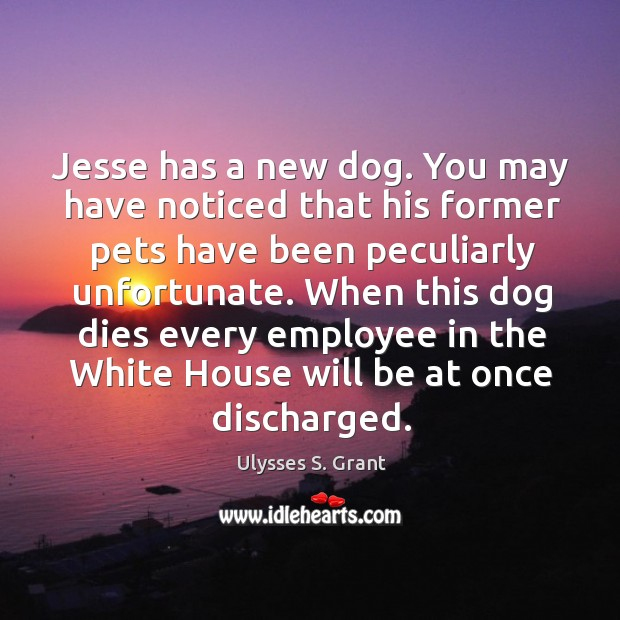 Jesse has a new dog. You may have noticed that his former Image