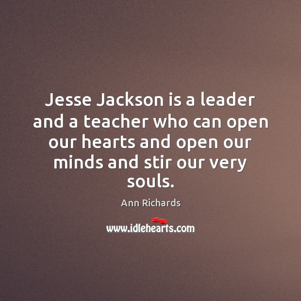Image, Jesse Jackson is a leader and a teacher who can open our
