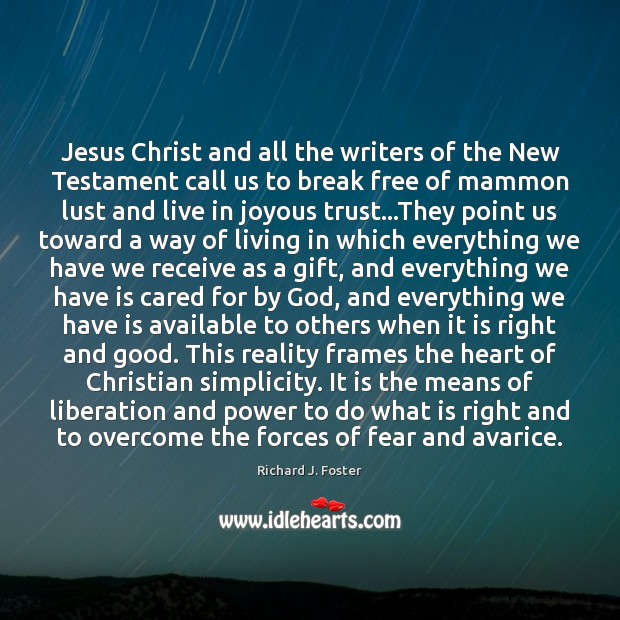 Jesus Christ and all the writers of the New Testament call us Image