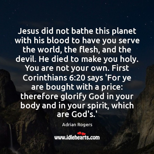 Image, Jesus did not bathe this planet with his blood to have you