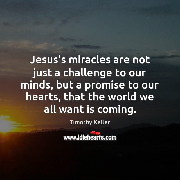Jesus's miracles are not just a challenge to our minds, but a Image